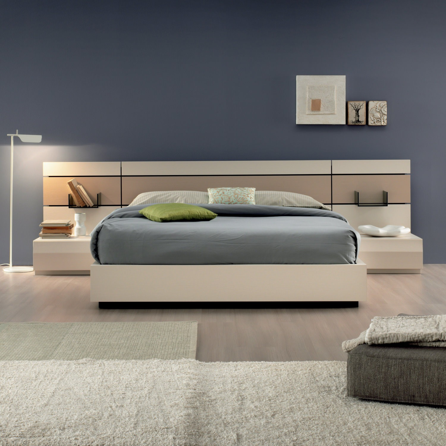 Libreria muro for Spalliere letto ikea